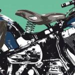 harley-davidson heritage softail springer  - détail moteur - photographisme - format 800 x 600