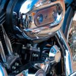 harley-davidson sportster 1200 in color - sur l'autoroute entre Paris et Toulouse
