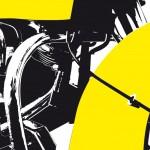 yellow 80flh shovelhead - photographisme - format 800 x 600